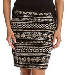 LOVE this Karen Kane Tribal Chic Skirt! Fiji Contrast Skirt #Karen_Kane #KarenKane #Tribal #Fashion
