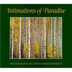 Christopher Burkett photographs intimate portraits of nature with an 8x10 camera. The compositions are quite classical, but the images are colorful and exuberant. Self-published with the highest standards, this is one of  the most beautiful photography books I have seen.