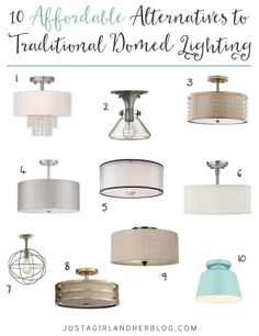 Afordable Traditional Lighting Ideas 10 Affordable Alternatives to Traditional Domed Lighting Kitchen Upgrades, Home Upgrades, Kitchen Renovations, Traditional Lighting, Expensive Houses, Affordable Housing, Updated Kitchen, Home Lighting, Lighting Ideas