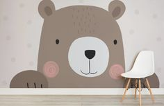 Designs for both girls and boys, view our collection of nursery wallpaper today. Create nursery murals to fuel their imagination and inspire young minds. Boy And Girl Wallpaper, Kids Room Wallpaper, Bear Wallpaper, Wallpaper Ideas, Children Wallpaper, Wallpaper Murals, Wallpaper Designs, Nursery Room, Kids Bedroom