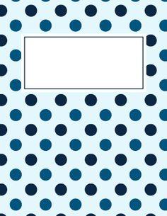 Blue Polka Dot Binder Cover