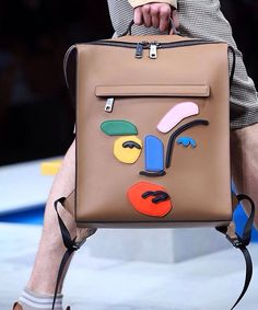 Meet the surprising new shape of the #FendiSS17 runway backpack. #mfw                                                                                                                                                      More