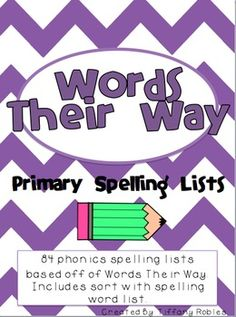 84 Words Their Way Spelling Lists with sorts to go with each.  Could make it much easier to differentiate spelling lists.