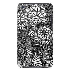 A unique Gardens #9 hand drawn art iPod case Barely There iPod Case