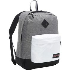 JanSport Super FX Series Backpack ($40) ❤ liked on Polyvore featuring bags, backpacks, grey, embroidered bags, pocket backpack, padded bag, jansport bags and day pack backpack