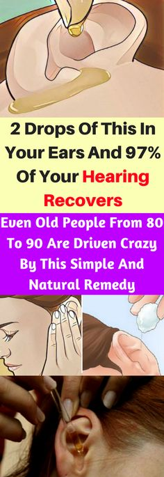 2 Drops Of This In Your Ears And 97% Of Your Hearing Recovers – healthycatcher