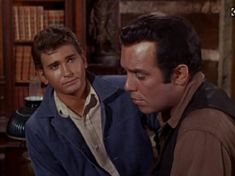 Bonanza..Adam and little Joe...here Adam is sad,and talking about it to Joe,and Joe is looking at him with such  love..❤️