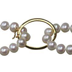 14K Gold Filled Pearl Necklace Shortener Assessory Clip
