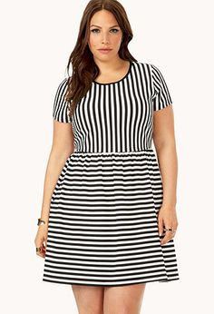 Game Time Striped Dress | FOREVER21 PLUS - 2000072368