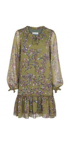 Sukienki codzienne - Kolekcja jesienna || Modne sukienki - ModernLine Floral Tops, Floral Prints, Military Green, Moschino, Short Dresses, Blouse, Long Sleeve, Sleeves, Women