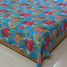 Amazon.com: Bed Cover India Decor Queen Block Print Cotton Handmade by Artisan 86 x 96 Inches: Home & Kitchen
