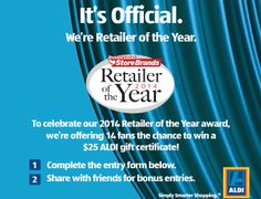To celebrate being named Retailer of the Year, @Aldiana Baraldi USA is giving away gift certificates.