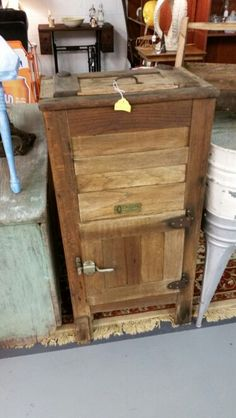 Love this Apartment size Antique ice box.. sold
