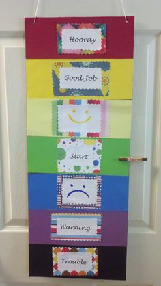 Behavior Chart for my son, it mimicks the one from school