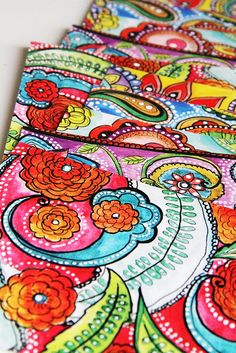 One of my favorite artists, Alisa Burke. Her designs are so colorful! They make me happy.