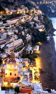 The small picturesque town of ~ Positano on the Amalfi Coast of Italy.