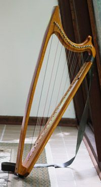My Renaissance harp (bray pins have been added since) - made by Howard Bryan