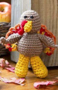 Tom Turkey Free Crochet Pattern from Red Heart Yarns