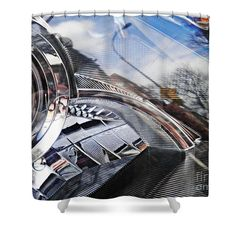 """Auto Headlight 165 Shower Curtain   $65 at http://fineartamerica.com/products/auto-headlight-165-sarah-loft-shower-curtain.html  This shower curtain is made from 100% polyester fabric and includes 12 holes at the top of the curtain for simple hanging. The total dimensions of the shower curtain are 71"""" wide x 74"""" tall."""