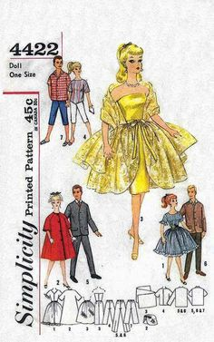 Vintage Doll's Clothes Pattern Barbie  by DollysVintageCloset, $1.50