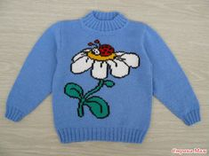Knitting For Kids, Baby Knitting, Crochet Baby, Knit Crochet, Kids And Parenting, Ladybug, Diy And Crafts, Knitting Patterns, Graphic Sweatshirt
