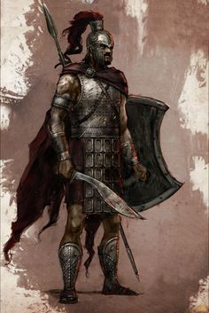 Grecian Legionairre. The backbone of the Imperial Legions of House Vitus. Highly disciplined warriors that never flee from battle under a strong commander.