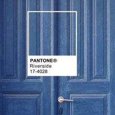 Amazing wall color! Pantone Riverside 17-4028