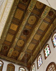 Syrian homes, Decorative traditional ceiling.