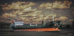 Beyond the Sea-s1 - A cargo ship on the Seine river in Sahurs-France (upper Normandie region).