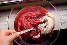 Picture of Wet Yarn. Again.