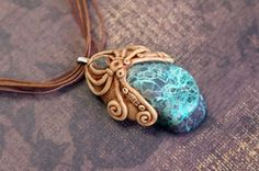 Chrysocolla neckalce Chrysocolla unakite cosmic jewelry by Velwoo