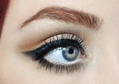 lovely line on the low cat eye here.