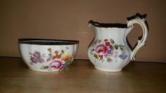 Royal Crown Derby English Bone China Derby Posies Sugar Bowl and Creamer Set #RoyalCrownDerby