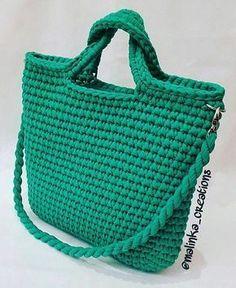 Handmade crochet bag from rope