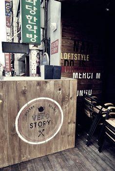 """korea cafe dedign """"vero story"""" design by mercim"""