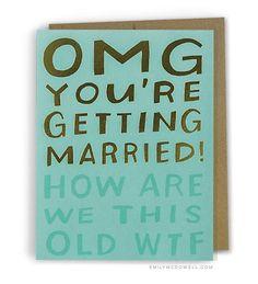 OMG Married WTF Foil Card