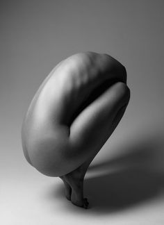 Beautiful pose and coloring- adore the monochrome. Fine art photography by Klaus Kampert
