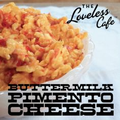 Buttermilk Pimento Cheese from the Loveless Cafe - Uses buttermilk instead of mayo. Appetizer Sandwiches, Appetizer Recipes, Appetizers, Pimento Cheese Recipes, Great Recipes, Favorite Recipes, Loveless, Yummy Food, Mouse Bait