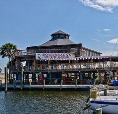 A steak and seafood restaurant with waterfront dining and boater-friendly access on Offat's Bayou on Galveston's West End. #Galveston #restaurant #seafood