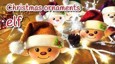 diy christmas crafts elf christmas ornaments innova crafts for christmas ornament crafts Elf Christmas Decorations, Hanging Christmas Lights, Christmas Ornament Crafts, Christmas Crafts For Kids, Christmas Projects, Handmade Christmas, Holiday Crafts, Christmas Holidays, Christmas Tree