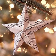 Book page star ornament... This would make a lovely garland!