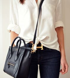 celine and hermes. Won't that make everything instantly chic and effortless?