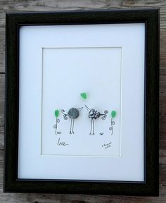 Pebble art birds , Love birds, Birs art, home decor, housewarming gift, wedding gift, birthday couple, anniversary couple
