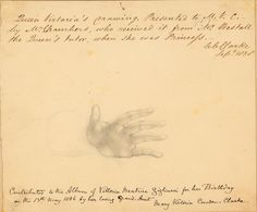 Pencil drawing of a hand, by Queen Victoria.