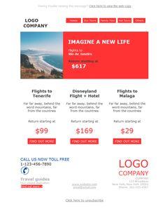 ¿Londres?¿Brasil?¿Praga? No importa el destino si es contigo. Envía las mejores ofertas con las plantillas newsletter de Mailify.