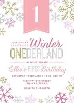 Winter Wonderland Party Invitation by TouiesDesign on Etsy, $25 for digital file