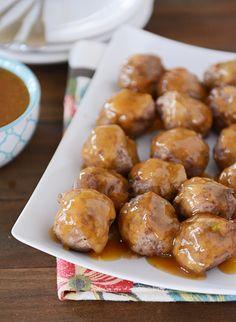 Baked Orange-Glazed Meatballs | Mel's Kitchen Cafe
