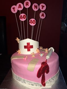 Made for a nurse/midwife for her 40th