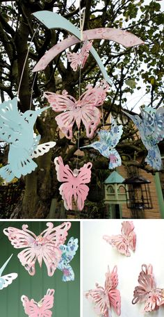 butterfly and hummingbird mobile by Decorque / featured on discoverpaper.com