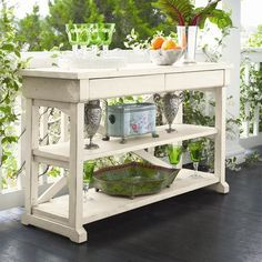 I pinned this Home Hall Table in Linen from the Paula Deen event at Joss and Main!